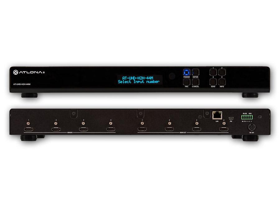 4K/UHD Матричный коммутатор 4х HDMI на 4х HDMI