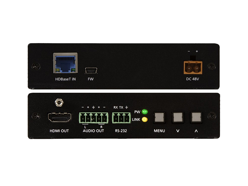 HDBaseT Масштабатор с HDMI и аналоговым аудио выходом