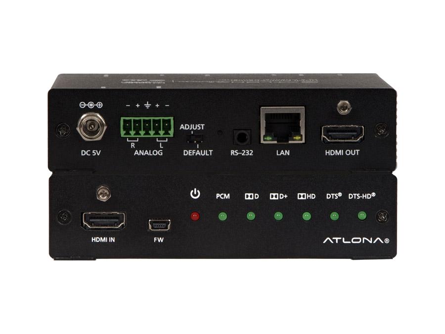 4K/UHD Аудио конвертер, многоканального HDMI на сбалансированное стерео