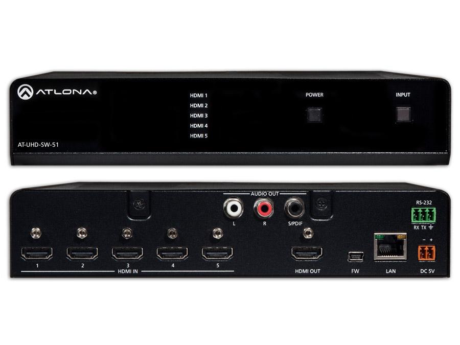 4K/UHD 5x HDMI Коммутатор