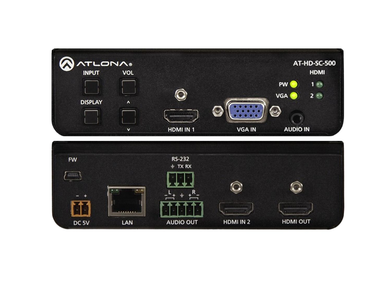Масштабатор, коммутатор HDMI и VGA сигналов с тремя входами