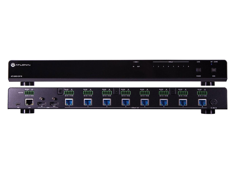 Усилитель-распределитель 4K/UHD с входом HDMI и 8-ми выходами HDBaseTer
