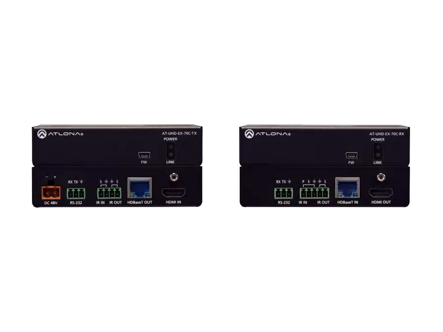 4K/UHD HDMI по HDBaseT комплект с управлением и PoE