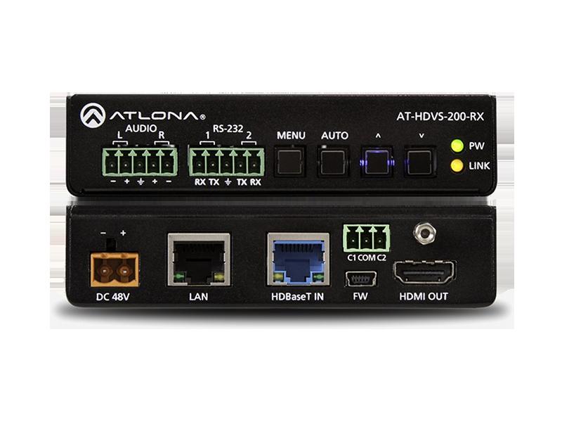 Масштабатор HDBaseT с выходами HDMI и аналогового аудио