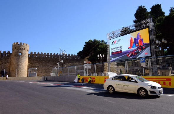 Polymedia installed 500 square meters of LED at Formula 1 Baku