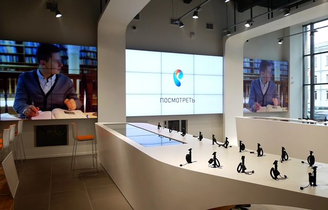 Digital Signage technologies for Rostelecom flagship offices Project ProIntegration